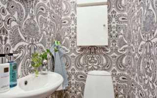 Обои в туалете дизайн фото