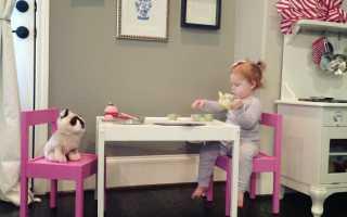 Как собрать детский стол